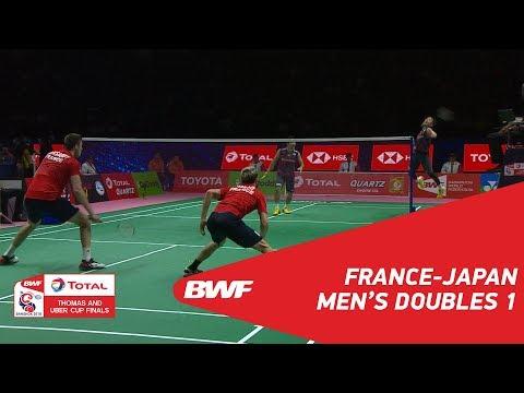 Thomas Cup | MD1 | KERSAUDY/MAIO (FRA) vs KAMURA/SONODA (JPN) | BWF 2018