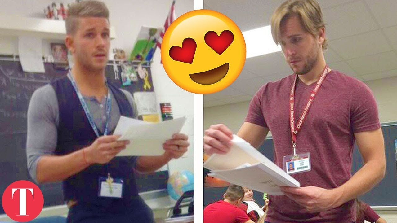 10 HOT Teachers That Might Work At Your School - YouTube