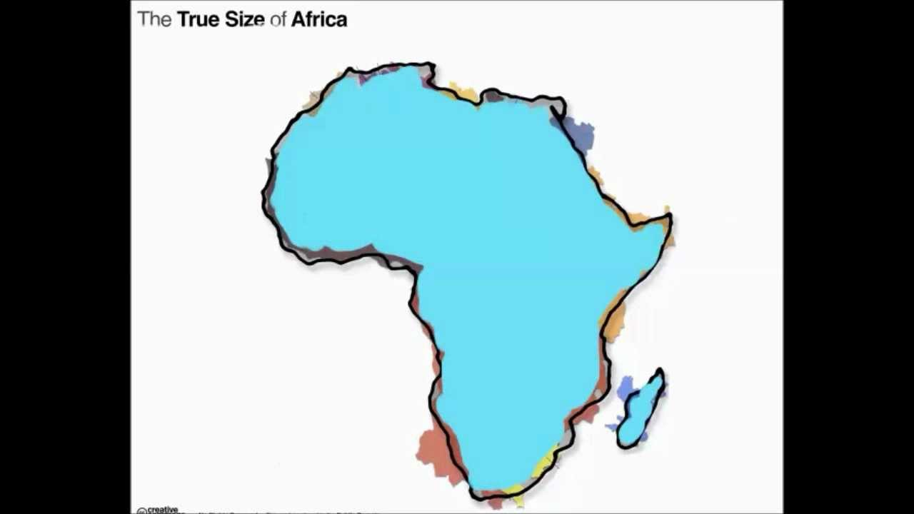 World Map Real Size Of Countries.The True Size Of Africa Youtube