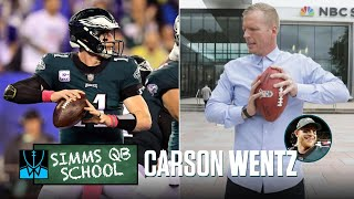 Chris Simms QB School: Carson Wentz | Chris Simms Unbuttoned | NBC Sports