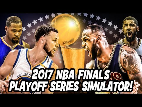 The Golden State Warriors vs The Cleveland Cavaliers - 2017 NBA Finals - Playoff Series Simulator
