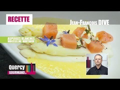 Recette : Asperges blanches & mousseline moutardé – quercygourmand.tv