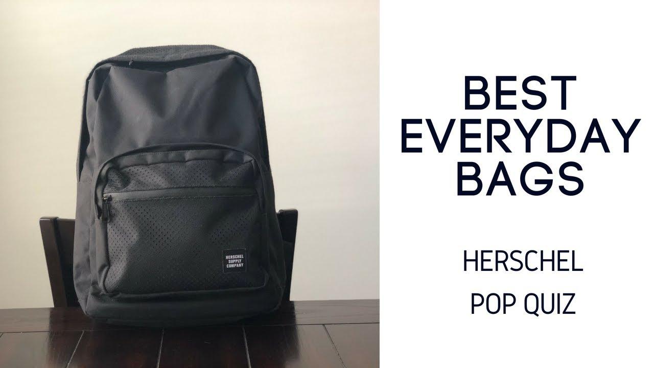 Best Daily Bags  Herschel Pop Quiz Backpack Review - YouTube e3a807fff78b7