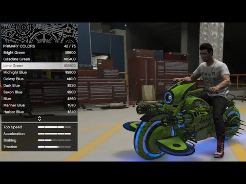 GTA 5 - Arena War DLC Vehicle Customization - Future Shock Deathbike (TRON  Bike Gargoyle) and Review