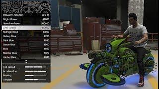 GTA 5 - Arena War DLC Vehicle Customization - Future Shock Deathbike (TRON Bike Gargoyle)