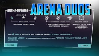 🔴 Arena Duos (230 points) // Grind to Champion League! // Fortnite Battle Royale