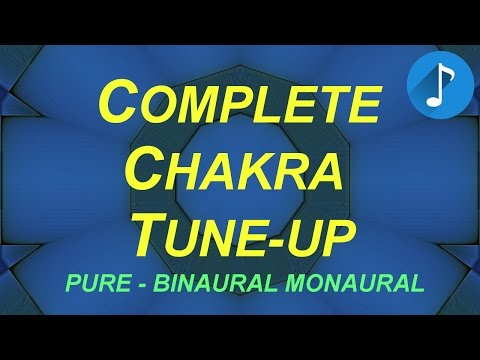 Complete Chakra Activation, 7 Chakra Tune-Up Pure Tones, Root to Crown, 136.1 Hz - Binaural Monaural