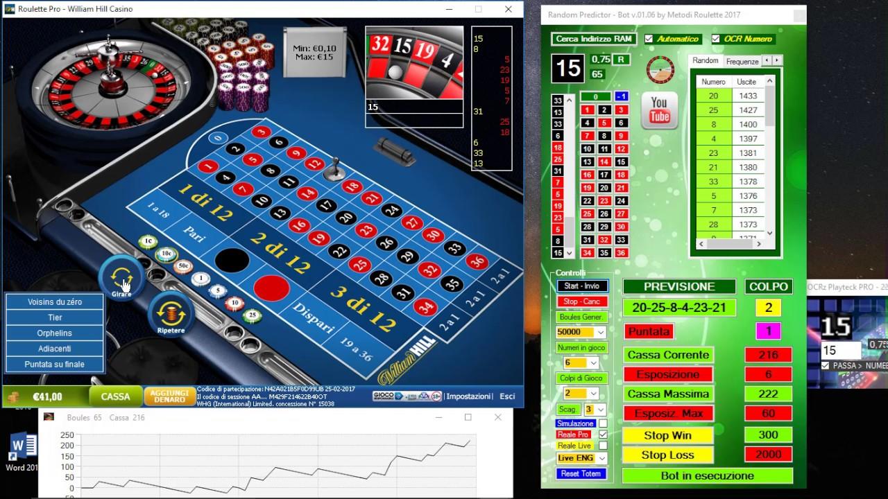 Roulette online con puntata minima 10 centesimi