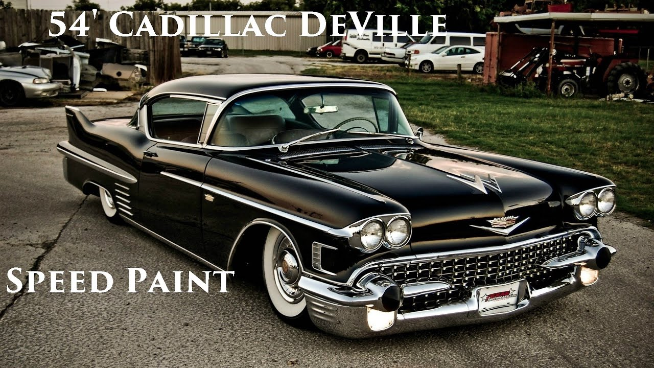 54' Cadillac Coupe Deville Sd Paint - YouTube