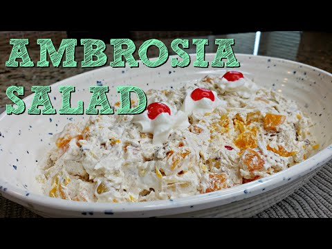 Easy Ambrosia Salad Recipe | Cool Whip And Fruit Cocktail Recipe