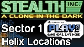 Stealth Inc. A Clone in the Dark Helix Locations Guide Sector 1 - PlayStation Store PLAY 2013