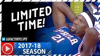 Joel Embiid Full Highlights vs Wizards (2017.10.18) - 18 Pts, 13 Reb, Limited Minutes!