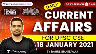 Daily Current Affairs/News Analysis | 18-January-2021 | Crack UPSC CSE 2021 | Rahul Bhardwaj