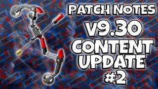 Patch Notes: v9.30 Content Update #2 | Fortnite Save The World