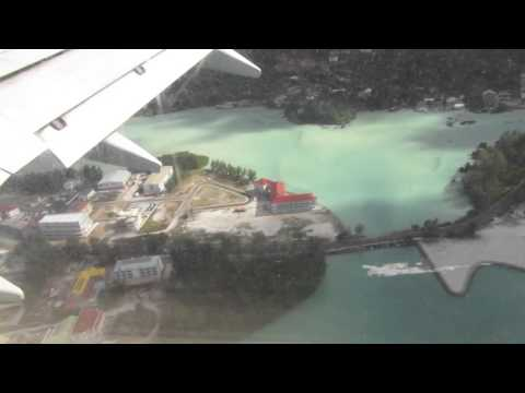 Landing in Victoria Airport, Seychelles International Airport (SEZ) in Kenya Airways