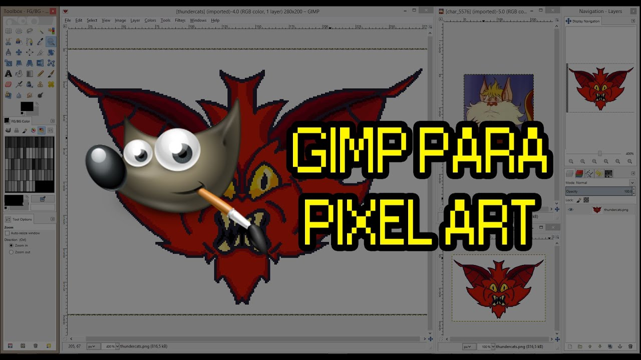 Arte para Jogos: Como configurar o GIMP para Pixel Art - YouTube