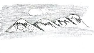 mountain drawing simple draw scenario drawings paintingvalley