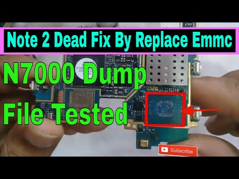 Samsung Note 2 Dead Fix By Replace Emmc With UFI BOX & N7000 Dump File Tested