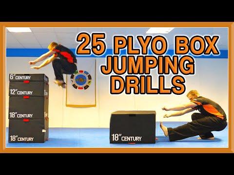 25 Plyometric Box Jumping Drills | Increase Your Jump