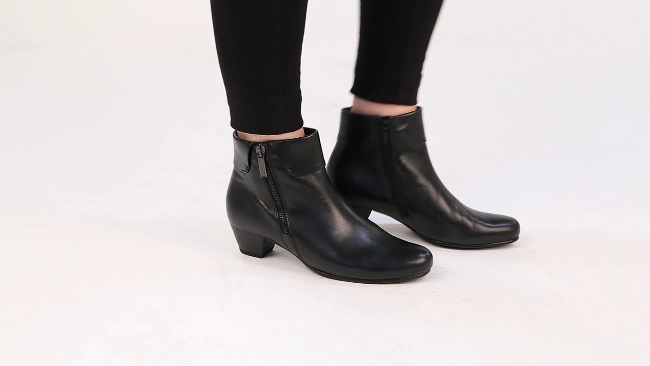 a8d958866 Gabor Royston Womens Cuff Zip Fastening Ankle Boots | Charles Clinkard