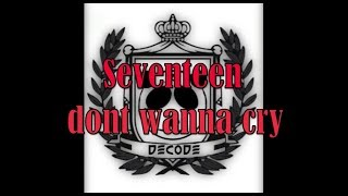 SEVENTEEN(세븐틴) - Don't Wanna Cry(울고 싶지 않아)  by decode