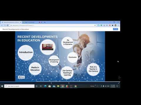 Recent Developments in Education - Dr.C.Thanavathi