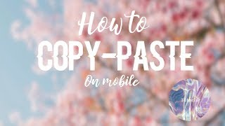 How to Copy-Paste on Mobile! | ROBLOX | Axliic