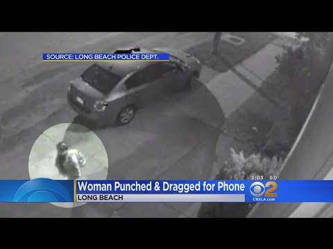Woman Punched And Dragged For Phone