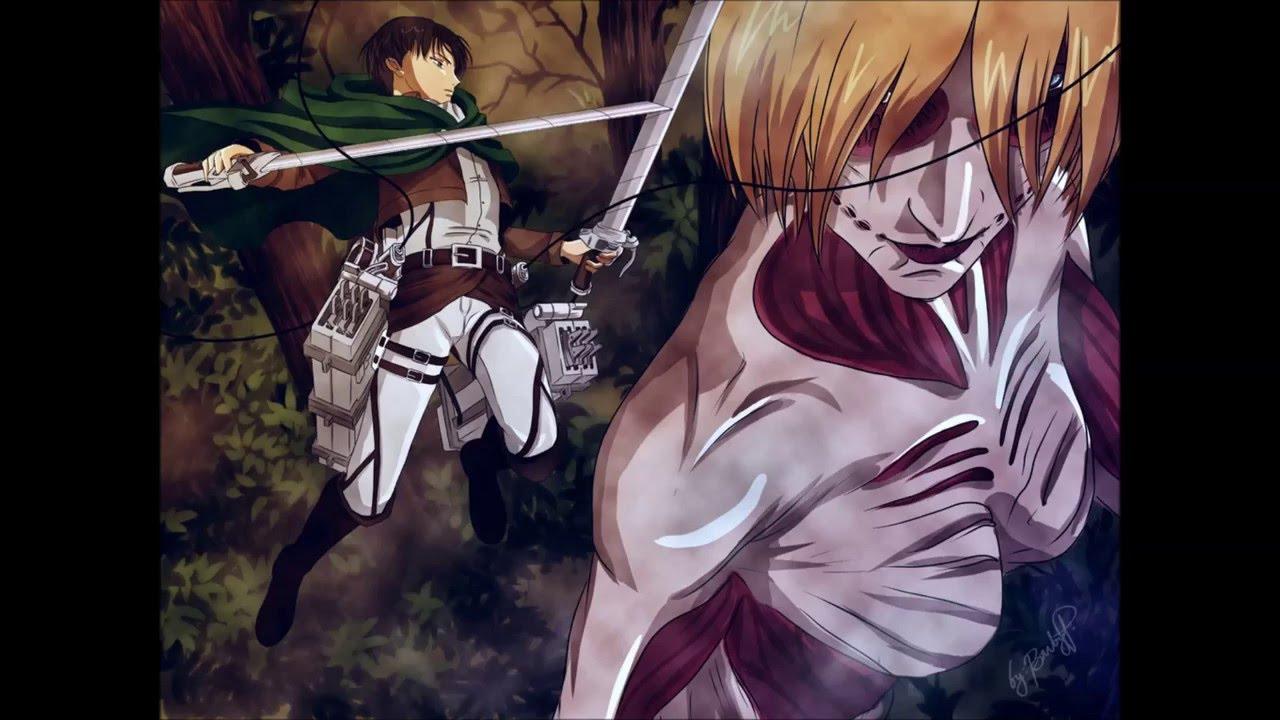 OST Shingeki no Kyojin, Attack on Titan Levi vs Female ...
