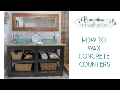 How To Wax Concrete Countertops