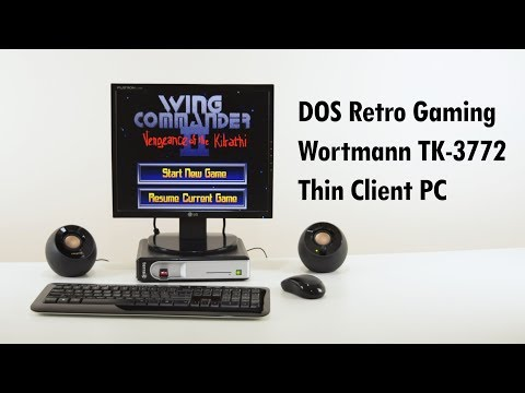 DOS Retro Gaming on the Wortmann Terra Termtek TK-3772 Thin