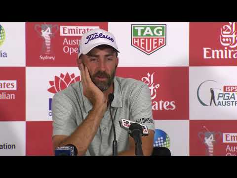 Geoff Ogilvy chats on Tuesday before 2017 Emirates Australian Open