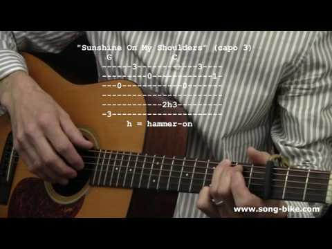 """Sunshine On My Shoulders"" by John Denver : 365 Riffs For Beginning Guitar !!"
