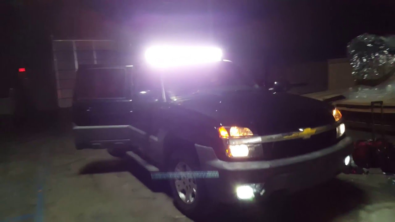 Chevy Avalanche 52 U0026quot  Led Light Bar Test