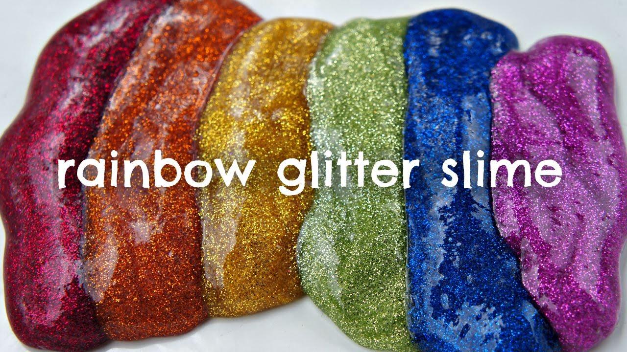 ebdcb4f4678b How to Make Rainbow Glitter Slime - YouTube