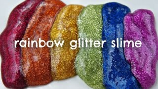 How to Make Rainbow Glitter Slime