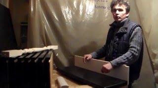часть 5 из 6, монтаж деревянных ступеней на металлический каркас лестницы