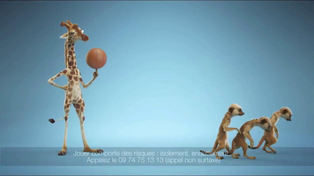 "Musique de la pub Fdj – la girafe ""jeu d'argent interdit avant 18 ans""  2021"