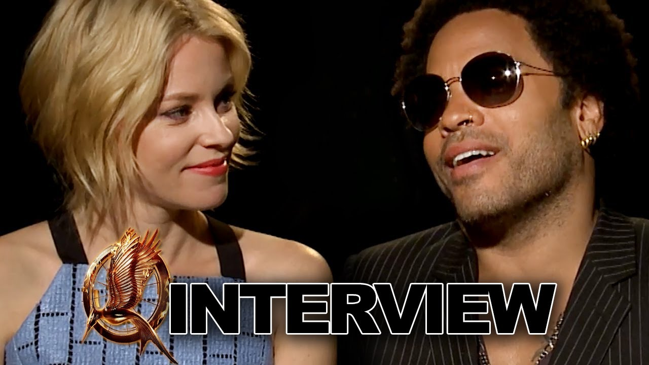 Elizabeth Banks & Lenny Kravitz: Catching Fire Interview Exclusive