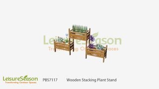 PBS7117 Rectangular stacking plant stand for outdoor or indoor provides a cascading display