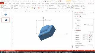 HỌC SLIDE POWERPOINT - P2 KỸ THUẬT VẼ HÌNH - 2.21-3 Chi tiết 3D Rotate