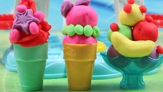 Zakręcona Lodziarnia Księżniczki | Play Doh Kuchenne Rewolucje & Disney Princess | Bajki dla dzieci
