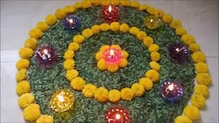2020 Special Flowers Decoration Rangoli Design Happy New Year Rangoli 2020