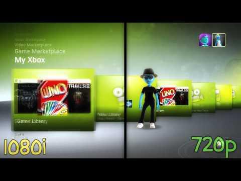 xbox 360 720p ou 1080p hd