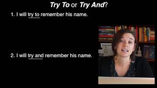 TRY TO or TRY AND?