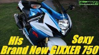 Suzuki GSX-R750 Super Sportbike - His Brand New Motorcycle!