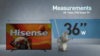 Hisense 40H5B H5 series full HD smart TV // Full Specs Review  #Hisense