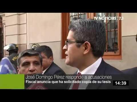 Fiscal José Domingo Pérez niega presunto plagio de tesis