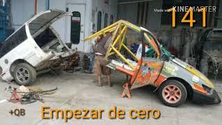 Jefrey Castillo y su auto recuperado