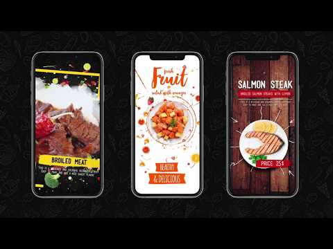 Food Instagram Stories Pack After Effects Template